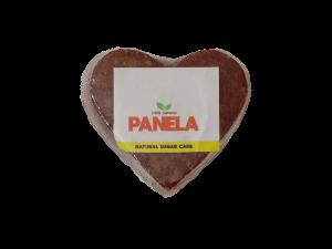 Panela colombiana en forma de corazón