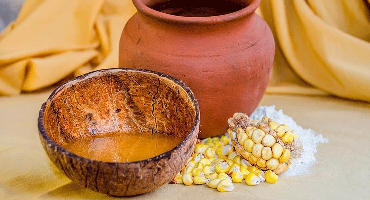 Imagen de masato de harina de maiz con panela decide